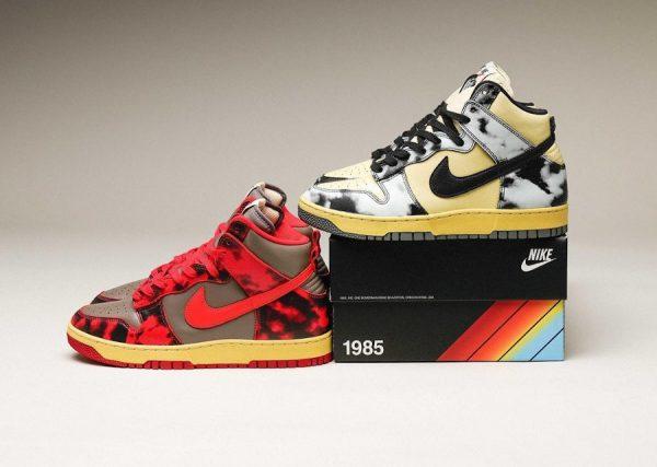 Nike Dunk High 1985 SP Black Red Acid Wash DD9404