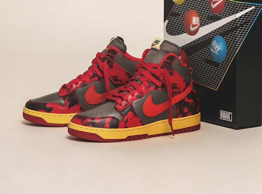 Nike Dunk High 1985 SP Red Acid Wash DD9404 600 (couv)