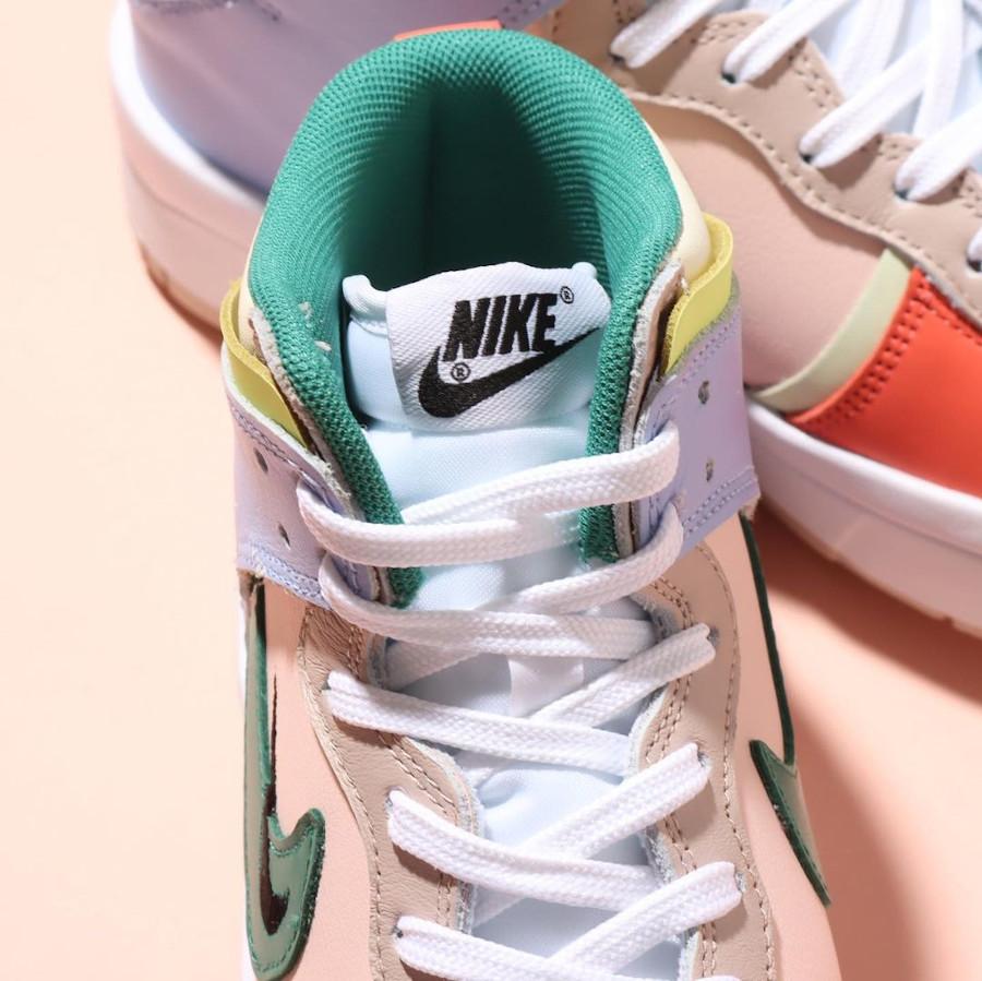Nike Dunk High Rebel jaune violet rose et verte (3)