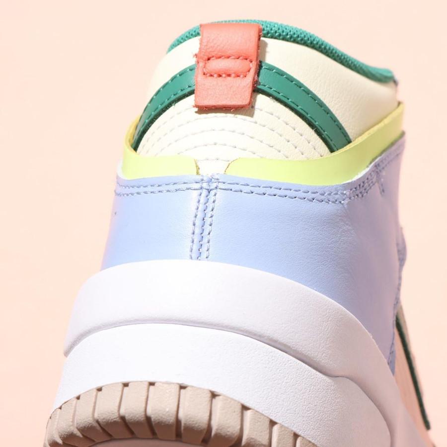 Nike Dunk High Rebel jaune violet rose et verte (4)