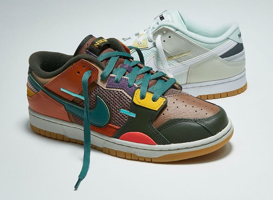 Nike Dunk Low Scrap Sacai Archeo Brown Bicoastal Sport Spice DB0500-200