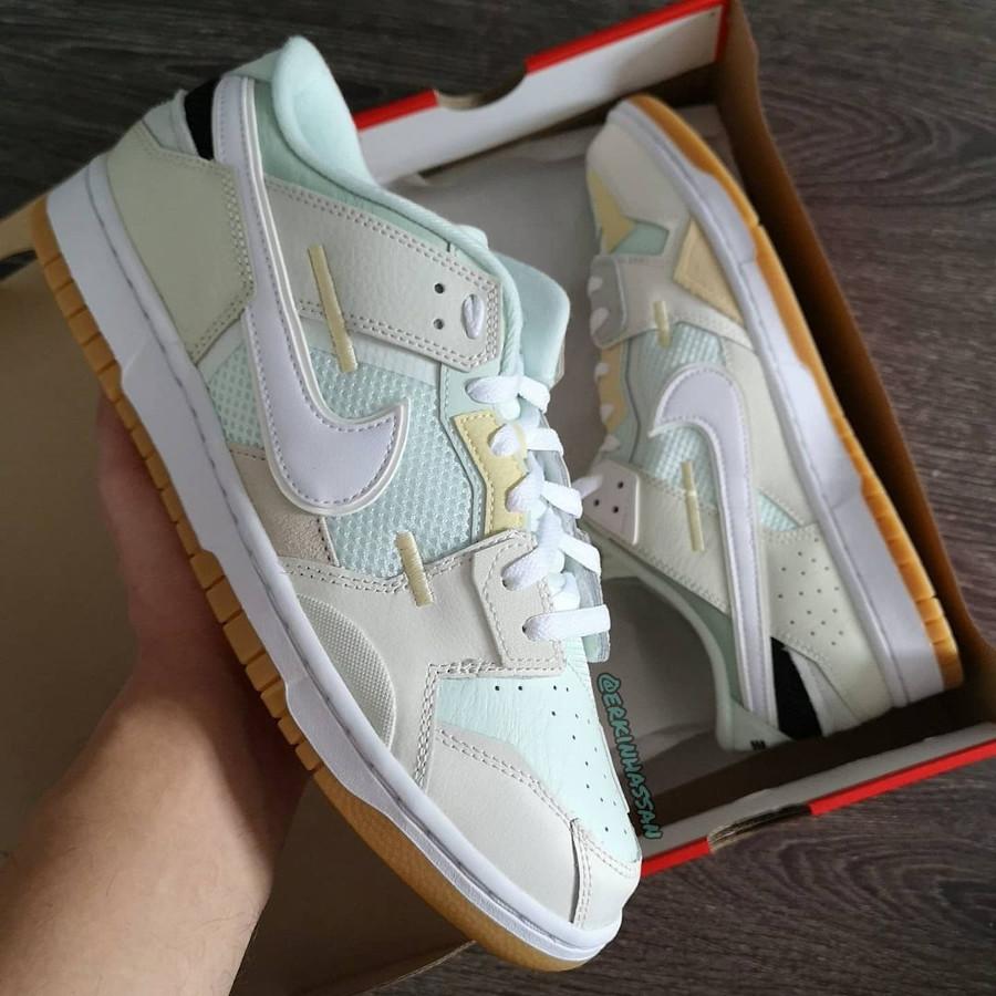 Nike Dunk Scrap grise et vert pastel (0)