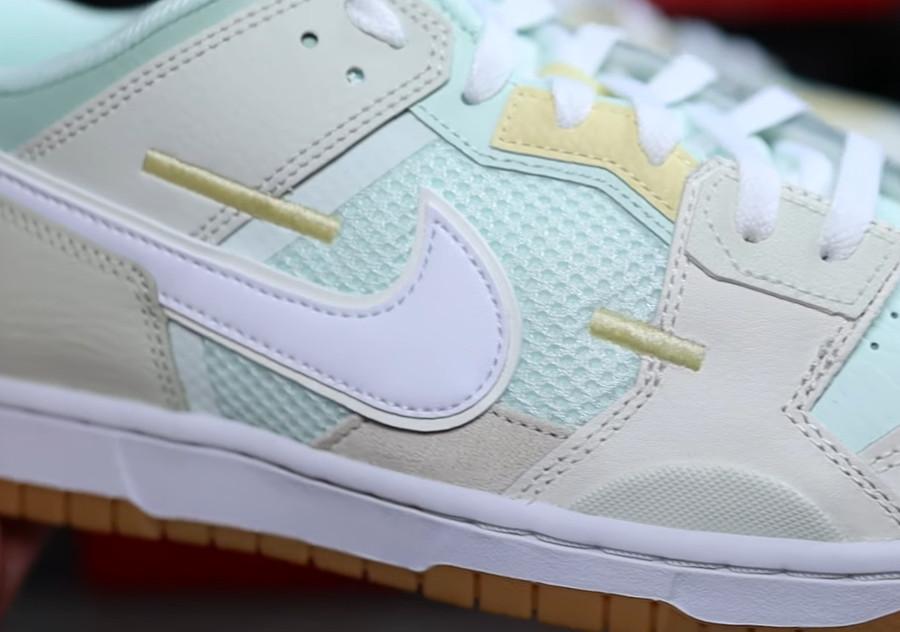Nike Dunk Scrap grise et vert pastel (1)