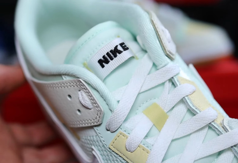Nike Dunk Scrap grise et vert pastel (3)
