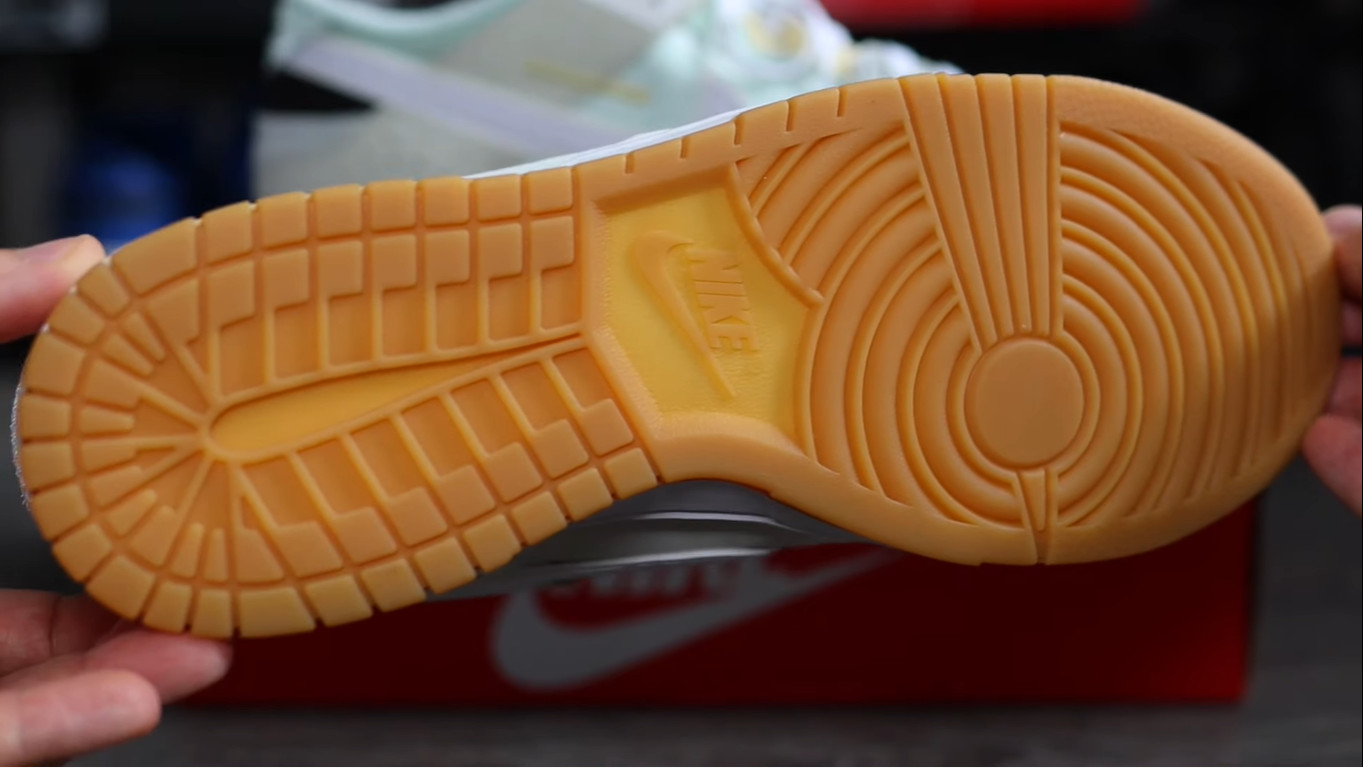 Nike Dunk Scrap grise et vert pastel (5)