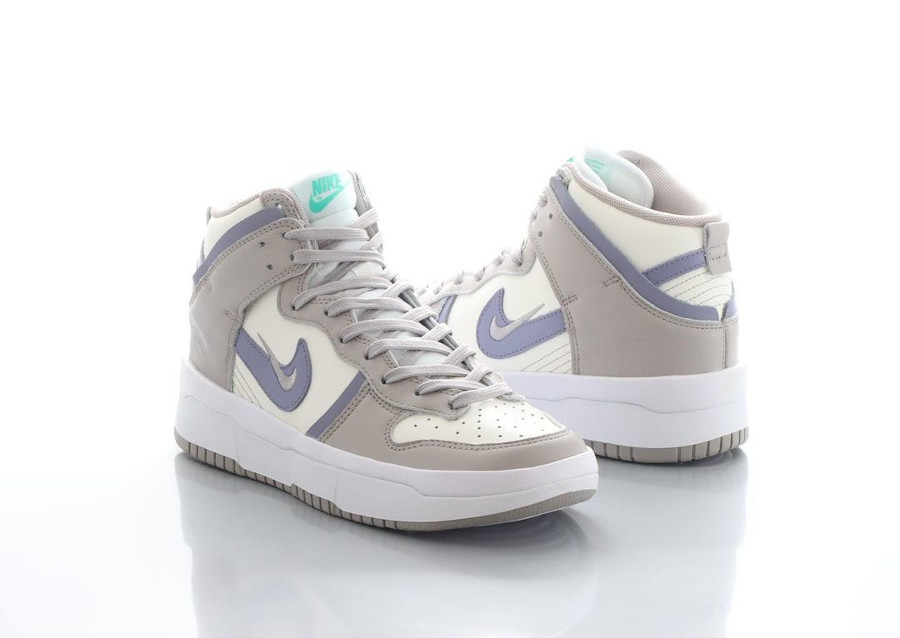 Nike Dunk Up compensée grise violet et vert turquoise (1)