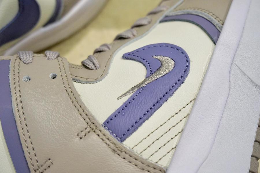 Nike Dunk Up compensée grise violet et vert turquoise (3)