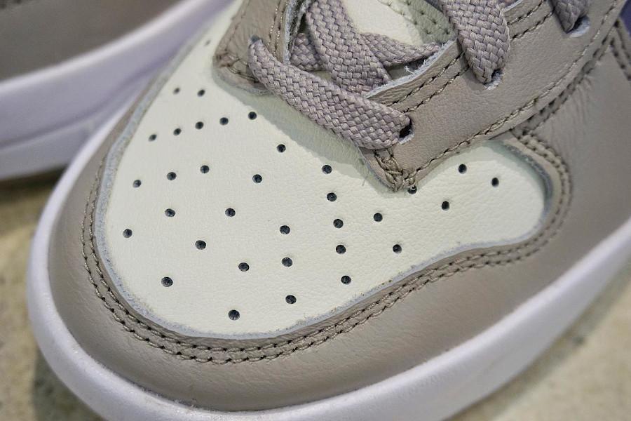 Nike Dunk Up compensée grise violet et vert turquoise (4)