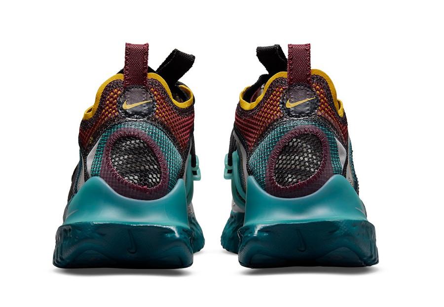 Nike ISPA Flow grise bordeaux bleu sarcelle et jaune (3)