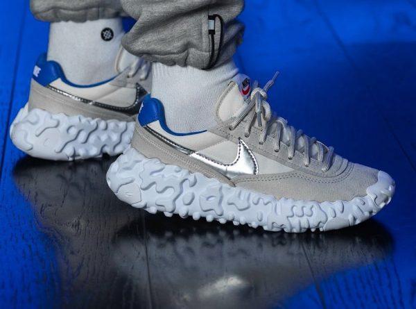 Nike Overbreak SP 'BRS' Light Bone Metallic Silver Blue Ribbon Sports on feet