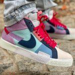 Nike Blazer SB Mid Premium Mosaic Pack 'Lilac Copa Dutch Blue'