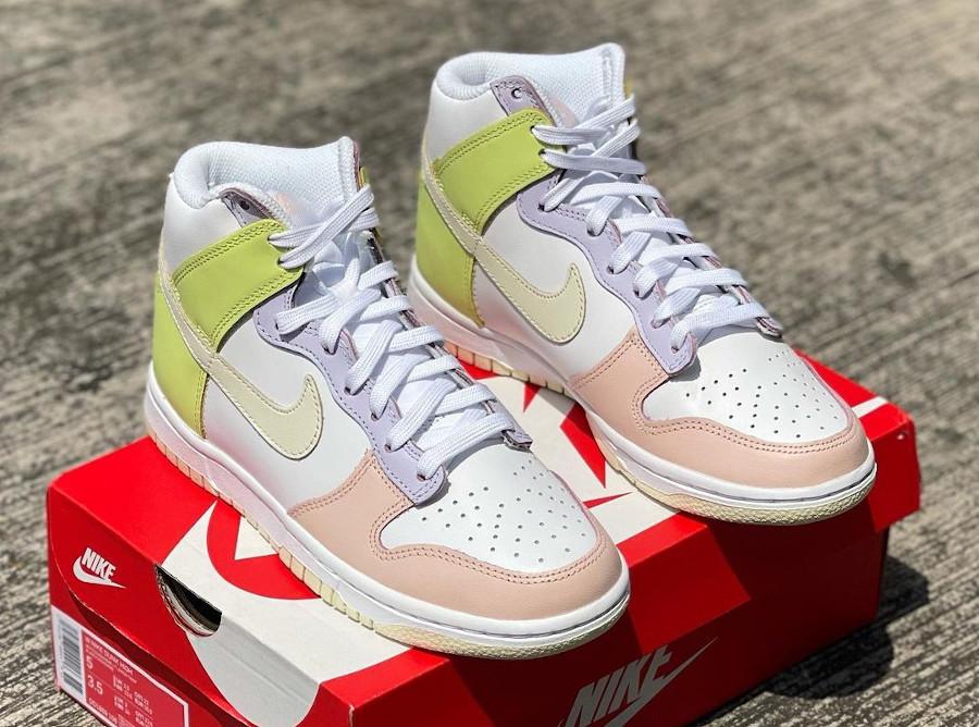Nike Wmns Dunk High Cashmere Lemon Twist Pastel DD1869-108