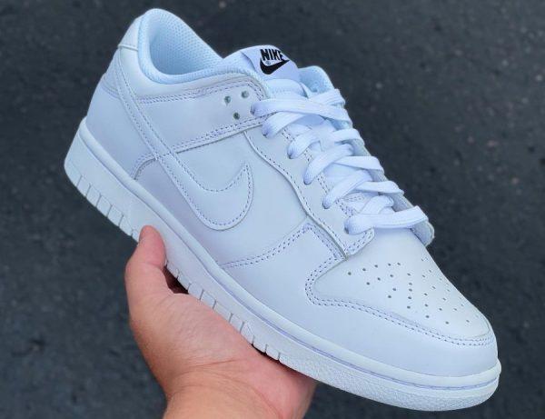 Nike Wmns Dunk Low Triple White 2021 (toute blanche) DD1503-109