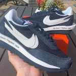 Sacai x Fragment Design x Nike LDWaffle Blackened Blue