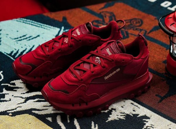 Reebok x Cardi B CL Classic Leather Triathlon Red Classic Burgundy (Let Me Be…In My World)