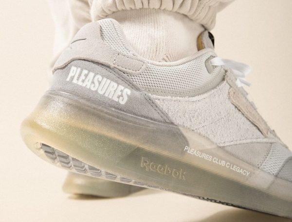 Reebok x Pleasures Club C Legacy Pure Grey Straw GW2639