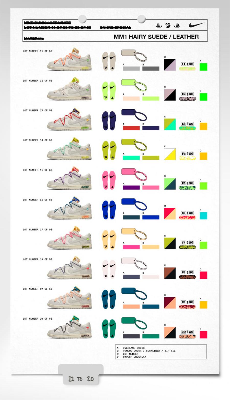 Toutes les Nike Dunk Low offwhite (2)