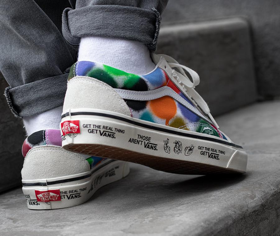 Vans UA Old Skool effet bombe de peinture on feet (1)
