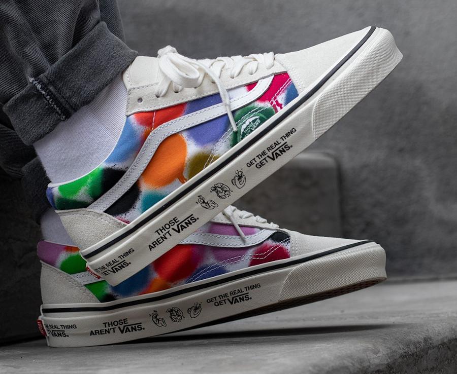 Vans UA Old Skool effet bombe de peinture on feet (2)