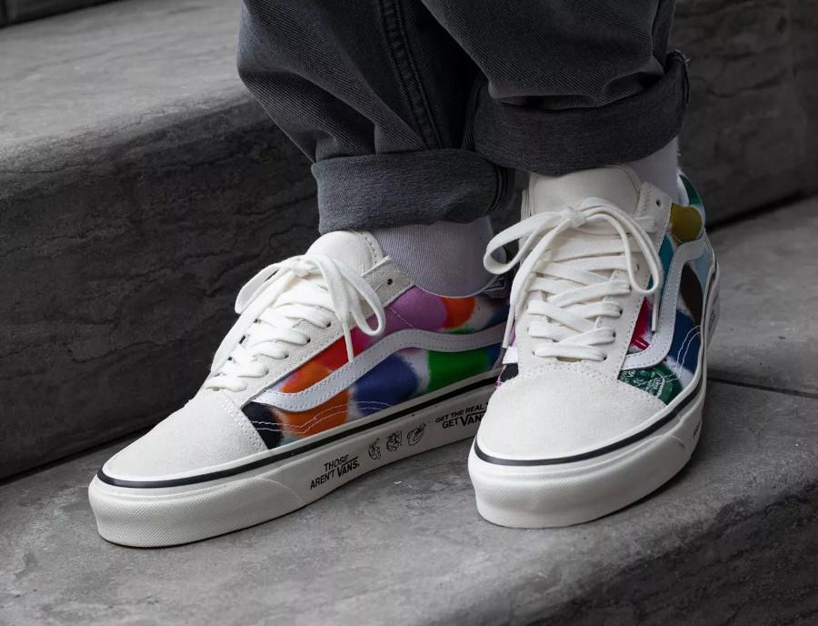 Vans UA Old Skool effet bombe de peinture on feet (5)