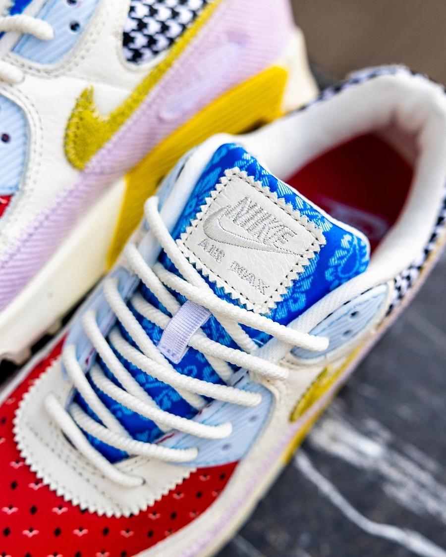 Women's Nike Air Max III Patchwork rouge bleu jaune et rose (1)