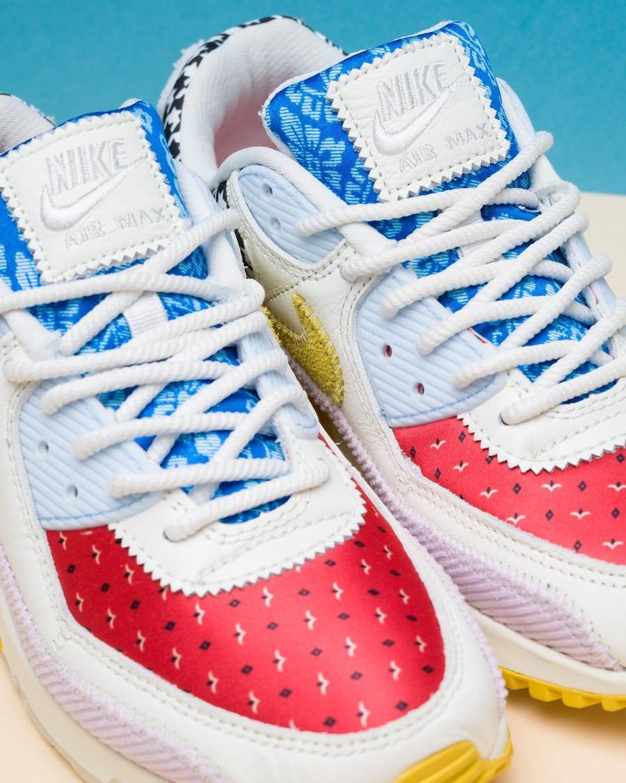 Women's Nike Air Max III Patchwork rouge bleu jaune et rose (2)