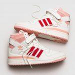 Adidas Forum High 84 Off White Glow Pink Vivid Red