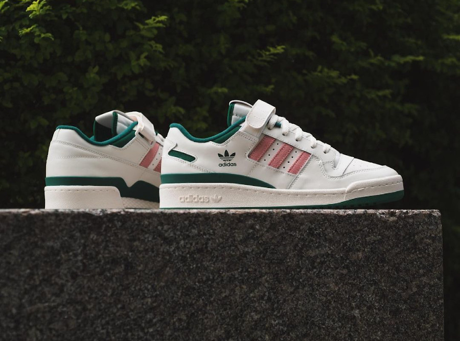 Adidas Forum Lo blanche verte et rose (1)