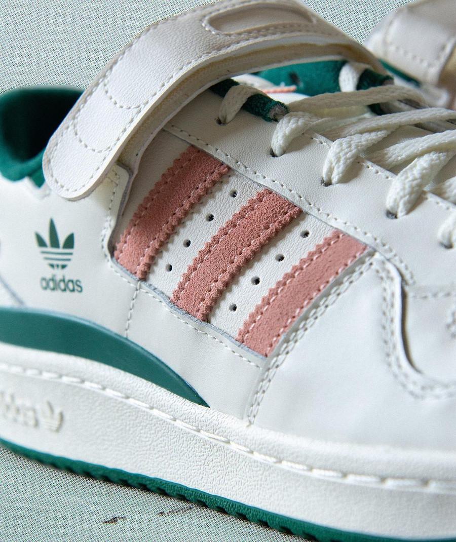 Adidas Forum Lo blanche verte et rose (2)