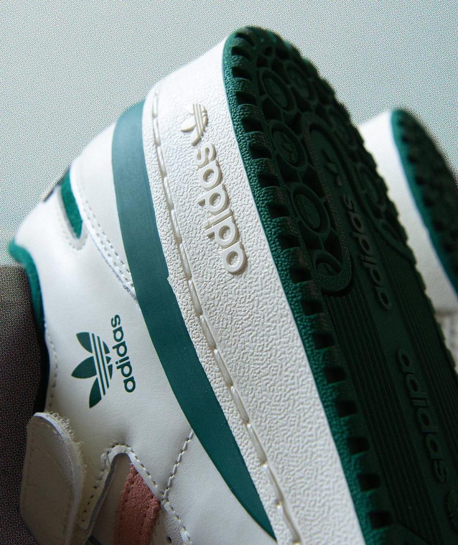 Adidas Forum Lo blanche verte et rose (3)