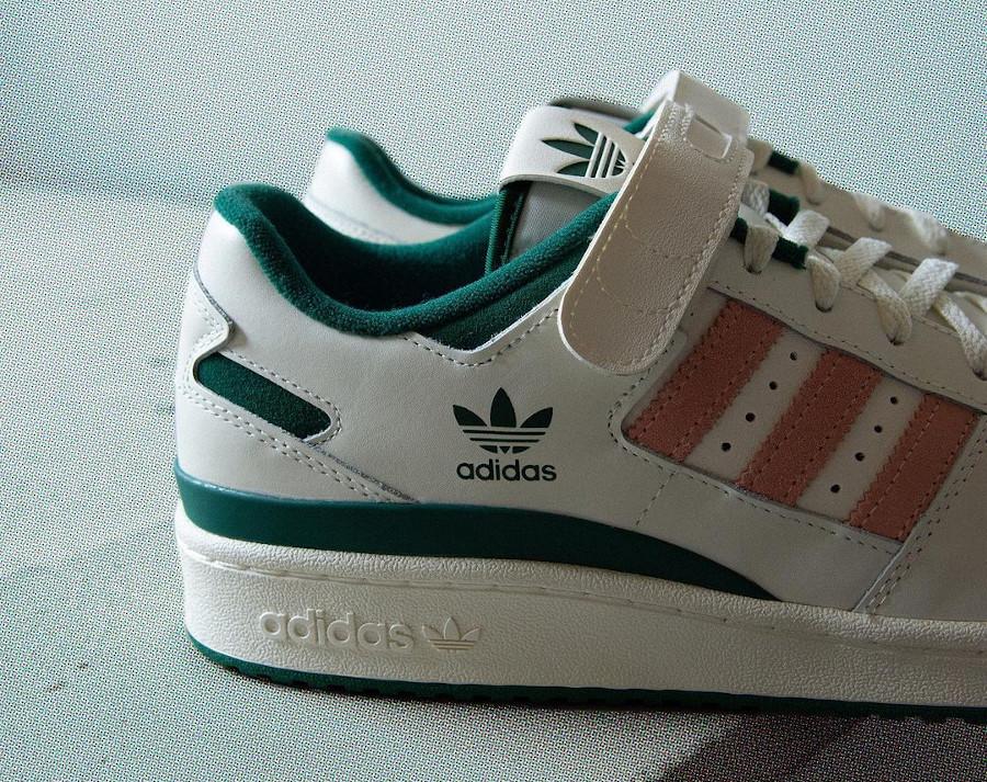 Adidas Forum Lo blanche verte et rose (4)