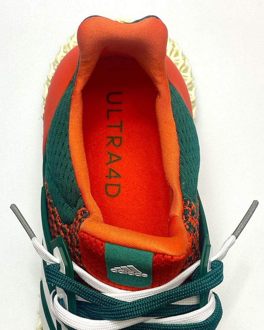 Adidas UltraBoost 4D verte et orange (1)