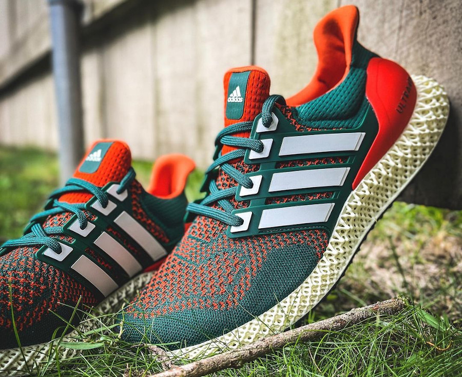 Adidas UltraBoost 4D verte et orange (2)