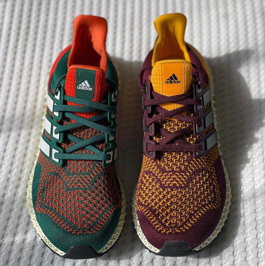 Adidas UltraBoost 4D verte et orange (3)