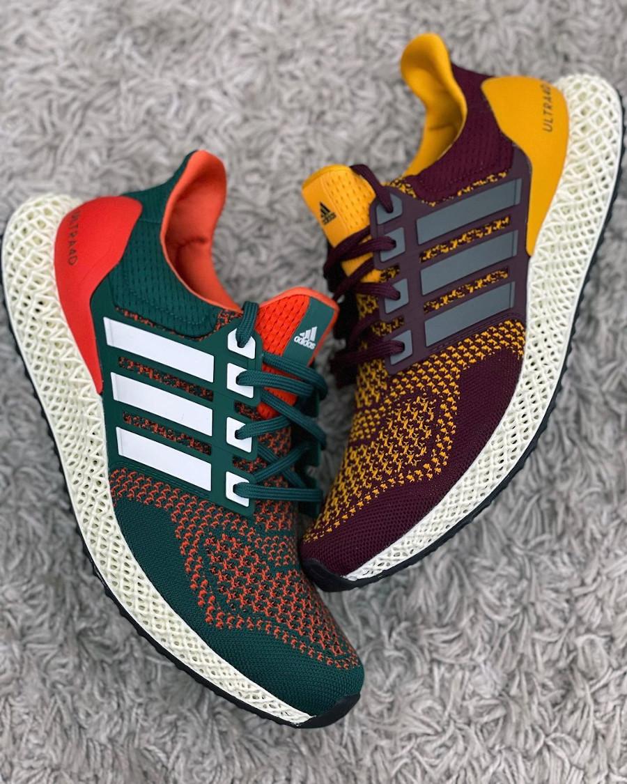 Adidas UltraBoost 4D verte et orange (4)