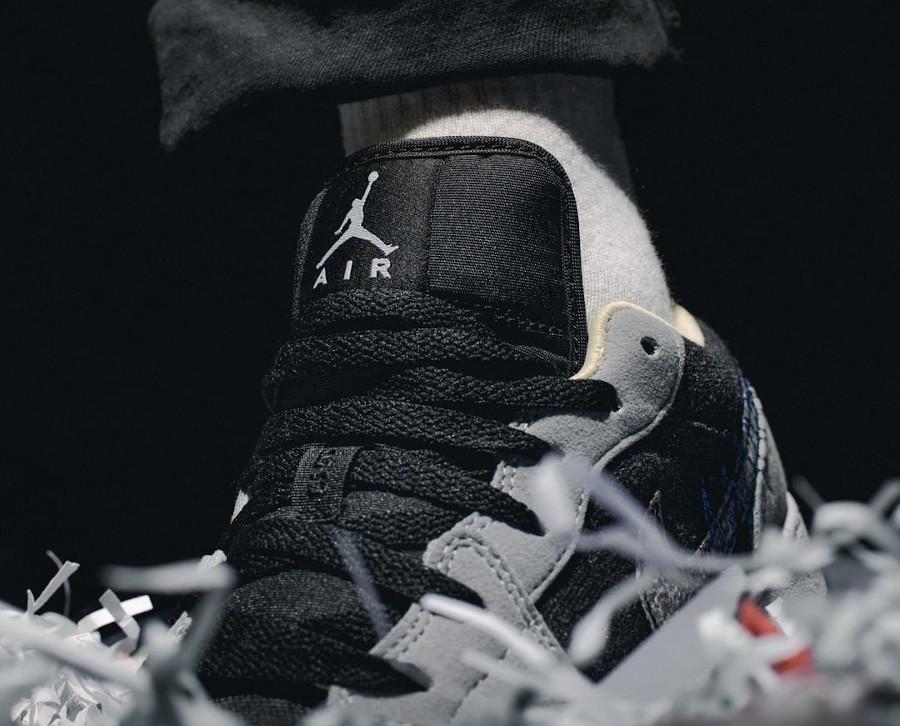 Air Jordan 1 Low recyclée grise et noire (1)