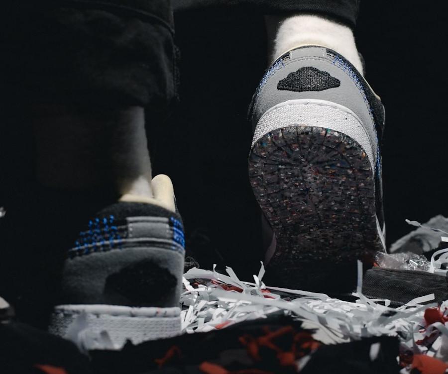 Air Jordan 1 Low recyclée grise et noire (2)