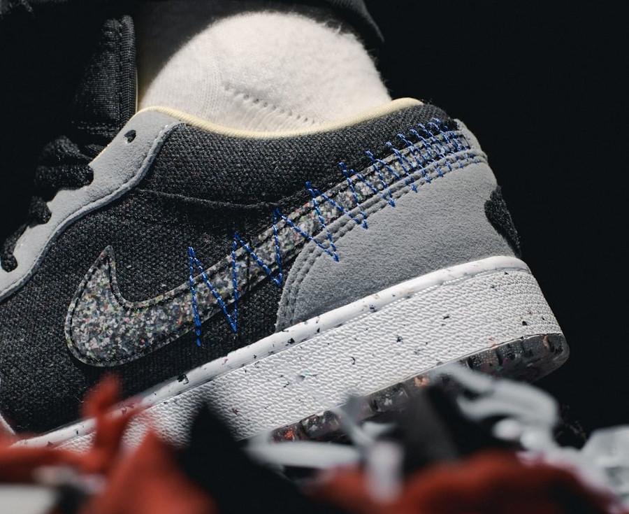 Air Jordan 1 Low recyclée grise et noire (3)