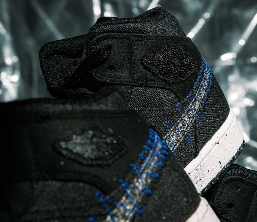 Air Jordan 1 Mid Grind en toile noire (3)
