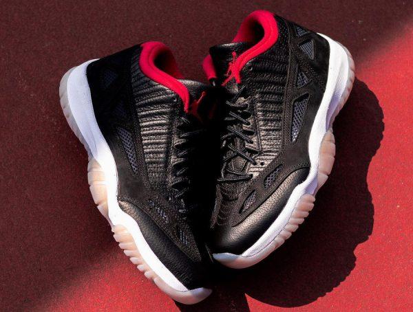 Air Jordan 11 Low IE rouge et noire (3)