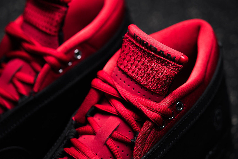 Air Jordan 14 2021 rouge et en daim noir (1)