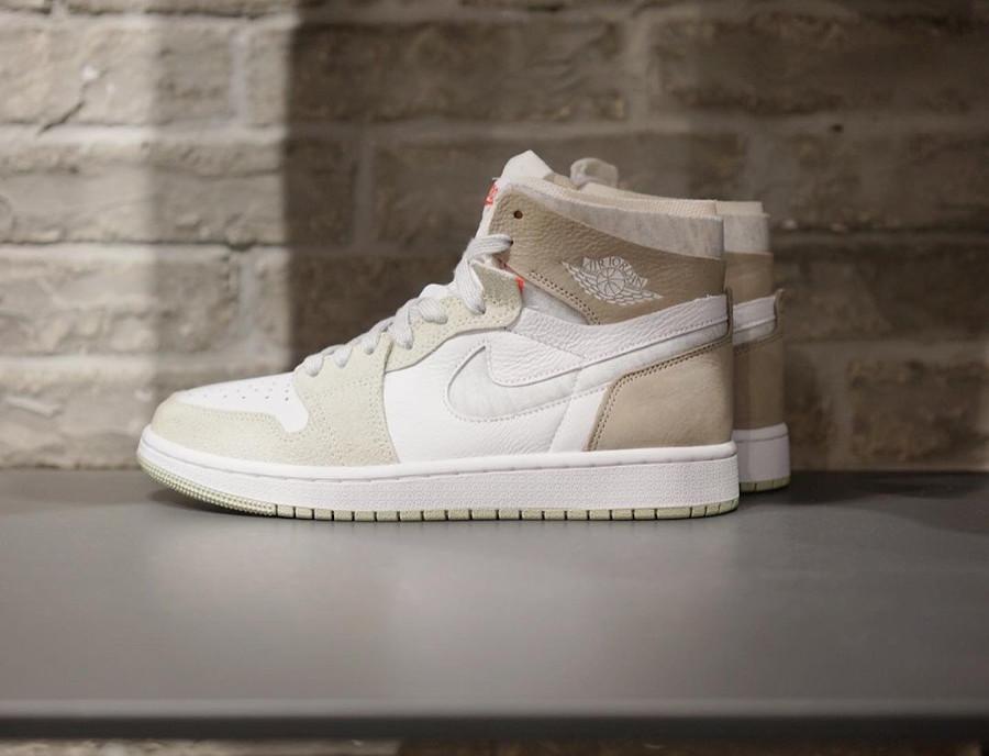Air Jordan One High Zoom Comfort blanche marron grise et verte (2)
