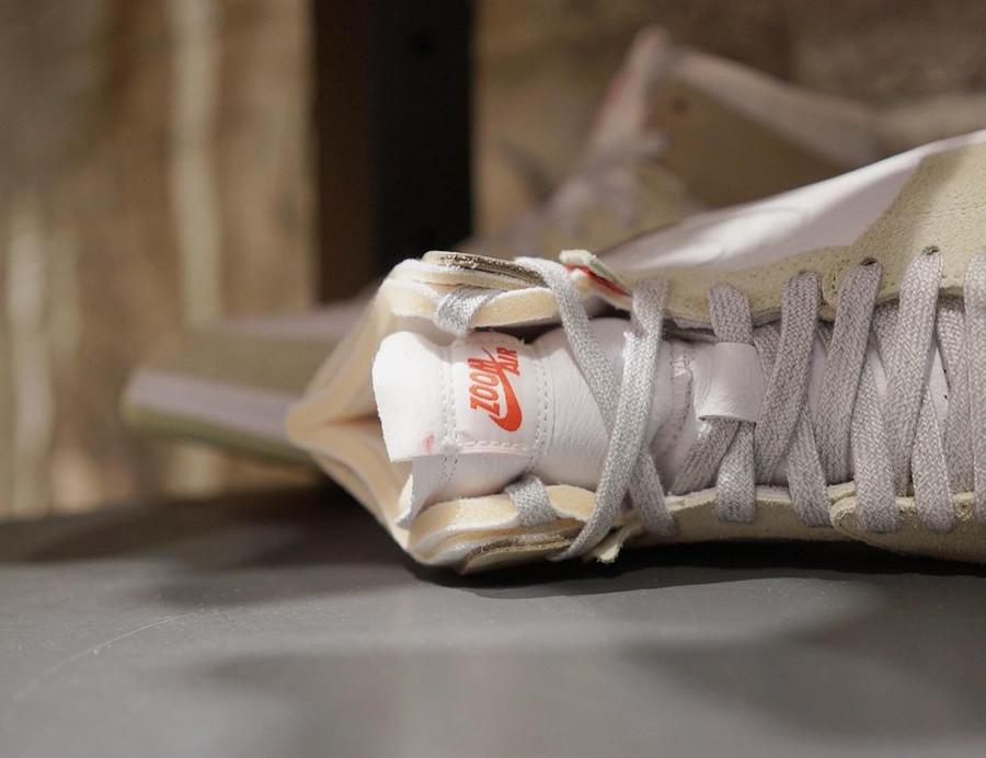 Air Jordan One High Zoom Comfort blanche marron grise et verte (3)