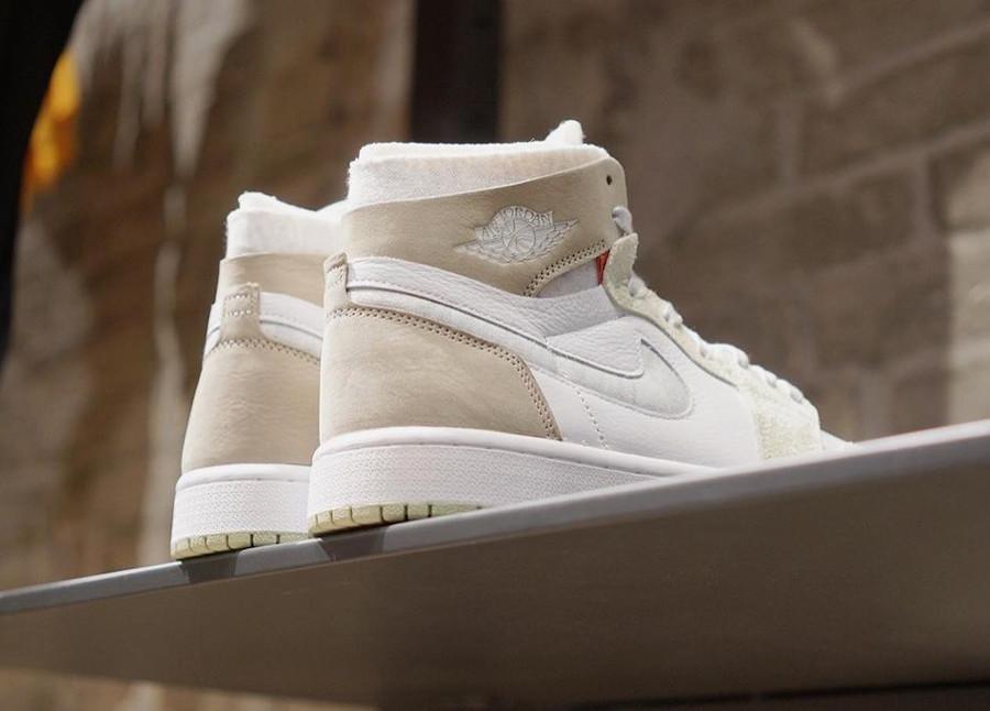 Air Jordan One High Zoom Comfort blanche marron grise et verte (4)