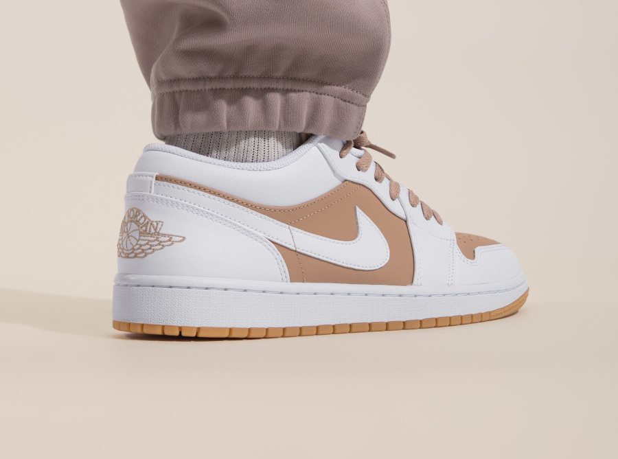 Air Jordan One Lo blanche et beige (4)