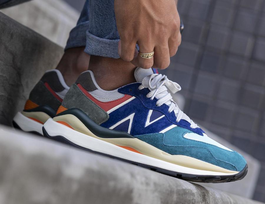 New Balance 57 40 bleu turquoise grise et orange (3)