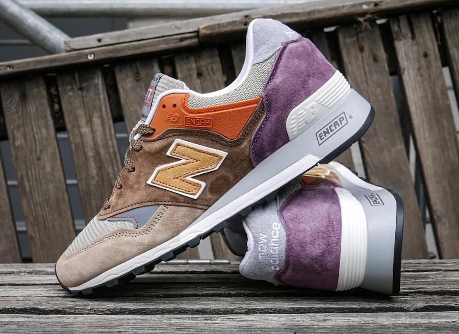 New Balance 574 marron beige orange et violet (5)