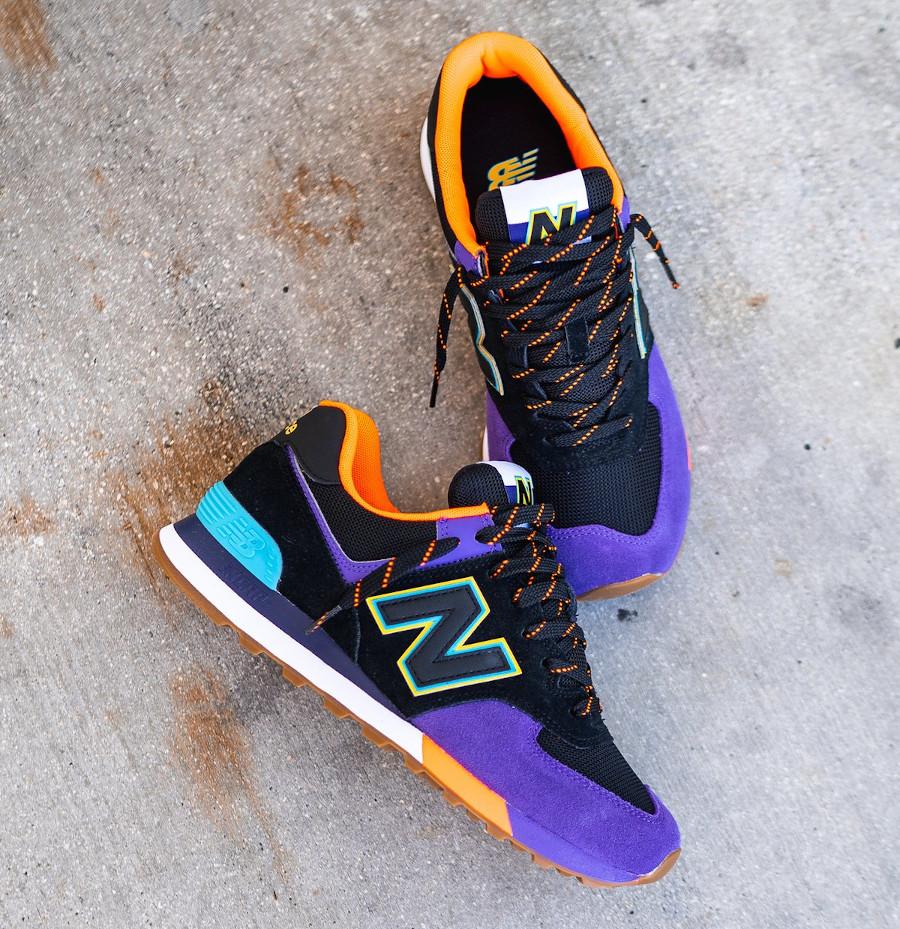 New Balance 574 noire violet et orange (2)