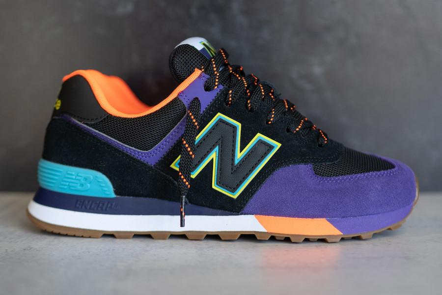 New Balance 574 noire violet et orange (3)