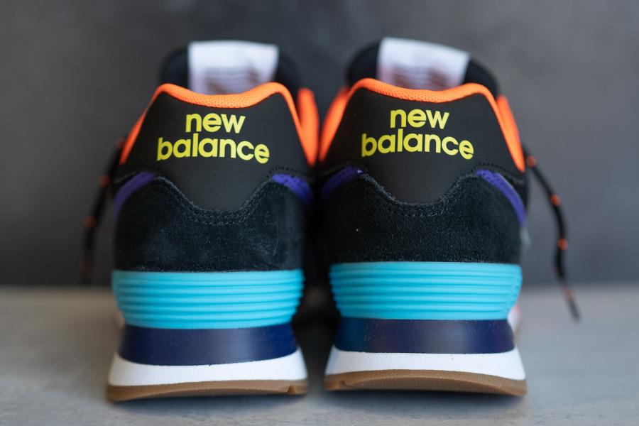 New Balance 574 noire violet et orange (5)